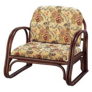 楽々座椅子 座面高23cm - 拡大画像
