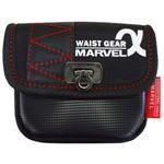 (まとめ)電工ポケット WAIST GEAR 【小物入れ/角底タイプ×5セット】 レッド(赤) マーベル MDP-71AR