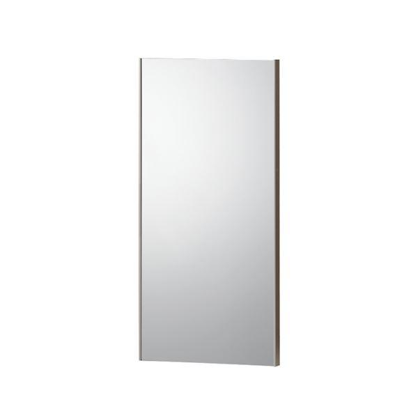 割れない 姿見鏡 【30×60cm オーク】 日本製 軽量 マグネットタイプ 飾縁付(両サイドのみ) 『REFEX リフェクス』