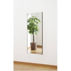 割れない 姿見鏡 【ショート 40×100×2cm シルバー】 日本製 プロ仕様 両サイド飾縁(幅0.5cm) 『REFEX リフェクス』 - 拡大画像