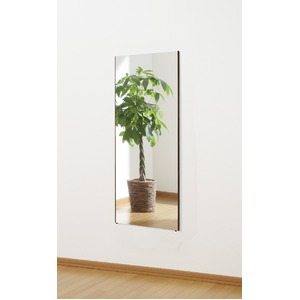 割れない 姿見鏡 【ショート 40×100×2cm メープル】 日本製 プロ仕様 両サイド飾縁(幅0.5cm) 『REFEX リフェクス』 - 拡大画像