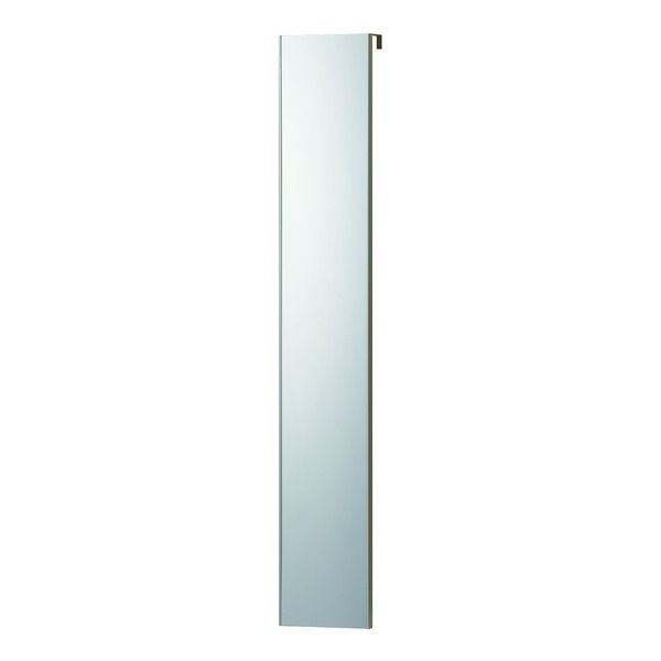 割れない 姿見鏡 【ドア掛け 20×120×2cm シルバー】 日本製 プロ仕様 両サイド飾縁(幅0.5cm) 『REFEX リフェクス』