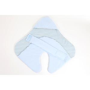 【赤ちゃん安眠おくるみ エマムール】出産祝いに大人気(全2色)ブルー - 拡大画像