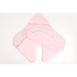 【赤ちゃん安眠おくるみ エマムール】出産祝いに大人気(全2色)ピンク - 拡大画像