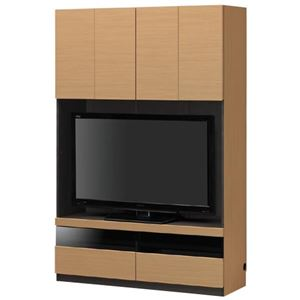 壁面テレビ台/テレビボード 【幅120cm】 ナチュラル 日本製 『PORTALE ポルターレ』