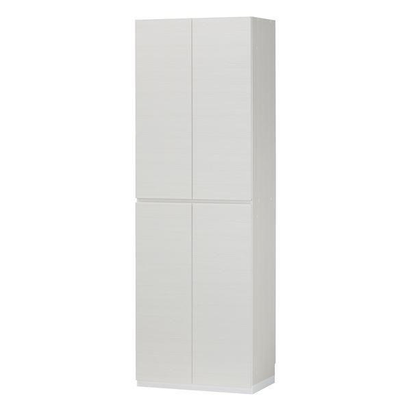 シューズラック/下駄箱 【ホワイト】 幅60cm 日本製 扉付き収納 組立式 移動棚8枚 『ポルターレエントランス』 〔玄関〕