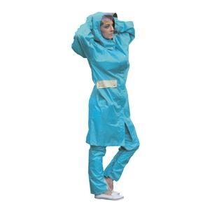 多機能 サイクルレインコート/雨合羽 【Lサイズ ブルー】 防水機能 透湿機能 収納ポーチ 反射板付き ポリエステル 『UVION』 - 拡大画像