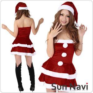 【コスチューム】クリスマスサンタクロース・ショート [SHORT431] 赤・Mサイズ 1点 - 拡大画像