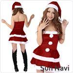 【コスチューム】クリスマスサンタクロース・ショート [SHORT431] 赤・Mサイズ 1点