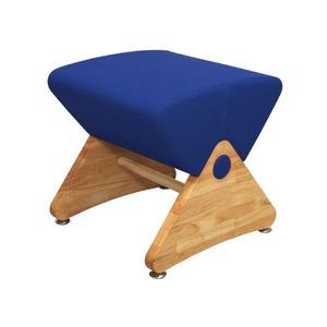 スツール モナディー 木製椅子デザイナーズスツール アジャスター付き クリア(布:ブルー/ABS)【Mona.Dee】モナディー WAS01S