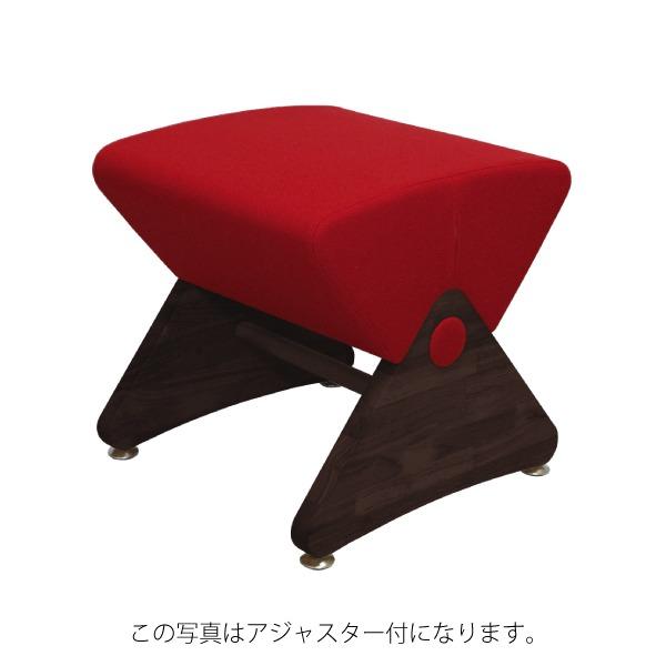 サロン、オフィスが続々導入!おしゃれ木製デザインチェア/椅子「デザイナーズスツール キャスター付き ダーク(布:レッド/エラストマー)【Mona.Dee】モナディー WAS01SC」