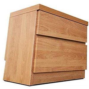 頑丈薄型チェスト/収納棚【2段 幅45cm ナチュラル木目調】 奥行30cm 日本製 『ウスピッタ』【完成品】