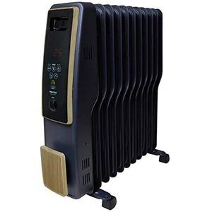 TEKNOS(テクノス) オイルヒーター 11枚フィン デジタル表示 木目調  - 拡大画像