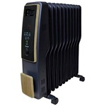 TEKNOS(テクノス) オイルヒーター 11枚フィン デジタル表示 木目調
