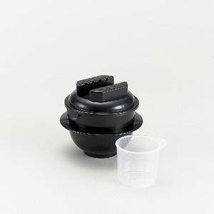 カクセー ちびくろちゃん1合炊き 電子レンジ専用炊飯器 備長炭 T-CHIBIKURO-1 - 拡大画像