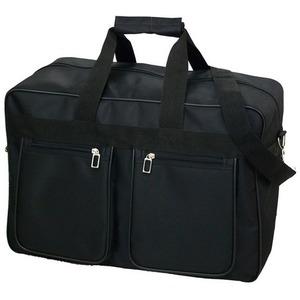 大容量ショルダーボストンバッグ!ビジネスに、旅行に、出張に!ブラック 8001 - 拡大画像