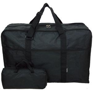 コンパクトに収納可能な大容量ポケッタブルボストンバッグ!ブラック 8045 - 拡大画像