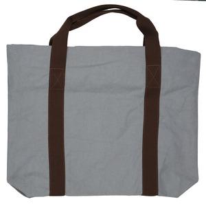 色合いとシルエットが可愛い♪大きめキャンバストートバッグ!無地 2色 グレー T-00101429 - 拡大画像