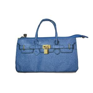 可愛いデザインのバッグインバッグ♪ファスナー付きで中身がこぼれない!全2色 ブルー - 拡大画像