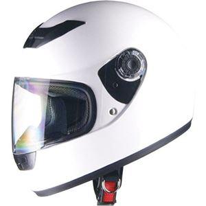 リード工業 (LEAD) フルフェイスヘルメット CR715 ホワイトWH フリー - 拡大画像