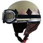 リード工業 (LEAD) レディースハーフヘルメット QH4 ARGYLE(IV・アーガイル) フリー (57〜58cm未満)