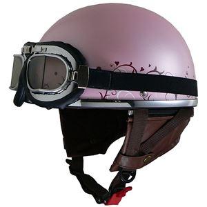 リード工業 (LEAD) レディースハーフヘルメット QH4 FLOWER(PI・フラワー) フリー (57~58cm未満)