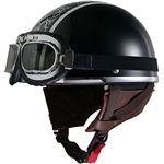 リード工業 (LEAD) レディースハーフヘルメット QH4 HEART(BK・ハート) フリー (57〜58cm未満)