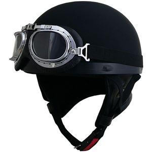 リード工業 (LEAD) ハーフヘルメット CR750 マットブラック フリー - 拡大画像