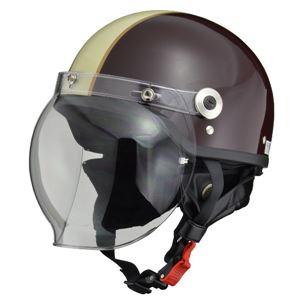 リード工業 (LEAD) バブルシールド付ハーフヘルメット CR760 BR/IV フリー - 拡大画像