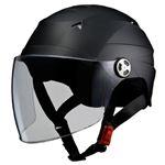 リード工業 (LEAD) シールド付ハーフヘルメット RE40 マット/BK フリー
