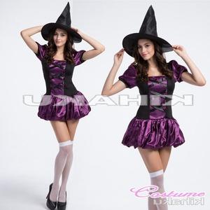 【ハロウィン】魔女 小悪魔 服コスプレ 巫女服 ハロウィン衣装/4414 - 拡大画像