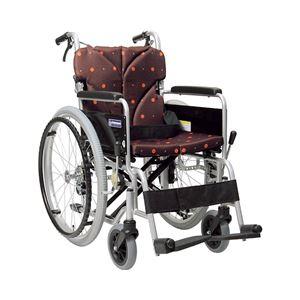 カワムラサイクル アルミ自走用車いす ベーシックモジュール BM22-38・40・42SB-LO 低床タイプ/ 座幅38cm A3 シルバーフレーム【非課税】 - 拡大画像