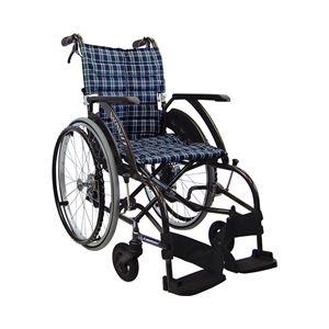カワムラサイクル 自走用 WAVIT(ウェイビット) WA22-40・42S ソフトタイヤ仕様 /座幅42cm No.95【非課税】 - 拡大画像