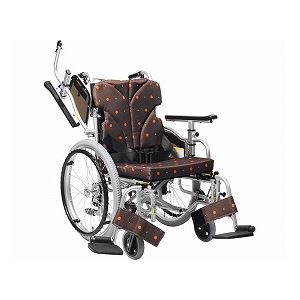 カワムラサイクル 自走用車いす 簡易低床型モジュール KZ20-38・40・42-LO 低床タイプ/ 座幅42cm No.100【非課税】 - 拡大画像