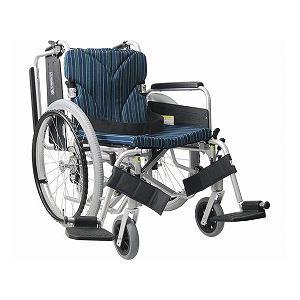 カワムラサイクル アルミ自走用車いす 簡易モジュール KA822-38・40・42B-M 中床タイプ/ 座幅40cm A3【非課税】 - 拡大画像