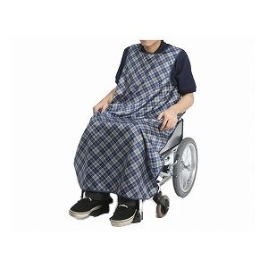 特殊衣料 食事前掛(超撥水) 車椅子用 /1050 リーフ(ピンク) - 拡大画像