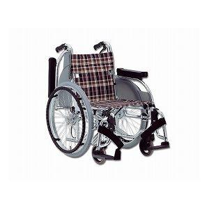 松永製作所 アルミ製多機能車いす 自走用 AR-501 /座幅42cm S-2【非課税】 - 拡大画像
