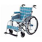 片山車椅子製作所 超軽量車いす KARL(カール)自走式 KW-901B /スカッシュ・ブルー【非課税】 border=
