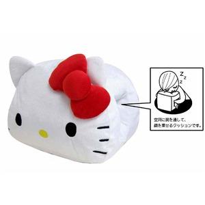HeLLo Kitty ハローキティ ハンドクッション(安眠クッション) ホワイト(白) - 拡大画像