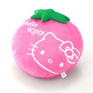 HeLLo Kitty ハローキティ ストロベリークッション【Lサイズ/ピンク】 ベルボア生地使用 - 拡大画像