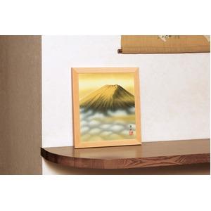 色紙額縁(小) 【葛谷聖山 梅月 金富士】 311×280×15mm 入れ替え可 日本製 - 拡大画像