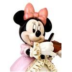 オルゴール/ディズニー陶製レース人形 ミニー 【バイオリン弾き ピンク】 磁器 径13.5×高さ15.5cm 日本製