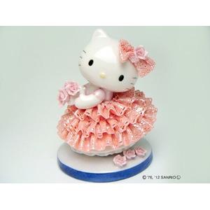 HeLLo Kitty ハローキティ レースドール 陶製人形 【ピンク】