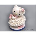 【陶器のキティ】陶製とは思えない、繊細なレース ■ハローキティ レースドール (ホワイト)
