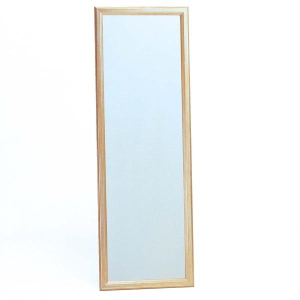 ウォールミラー/全身姿見鏡 【壁掛け用】 フレーム:シャンパンゴールド 壁掛けひも付き 日本製