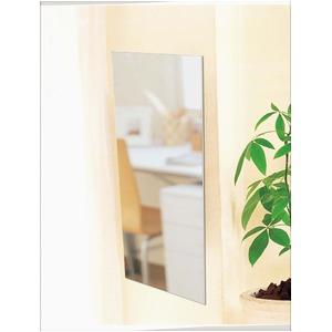 軽量割れないミラー/アルミフィルム壁掛け鏡 【吸着タイプ】 ガラス不使用 脱着可 日本製 〔防災 子供部屋 学校 体育館〕 - 拡大画像