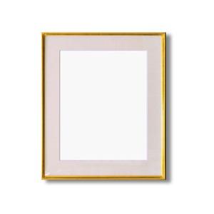 水彩額縁/フレーム 【F10号/ゴールド】 壁掛けひも/アクリル/マット付き 化粧箱入り 9736