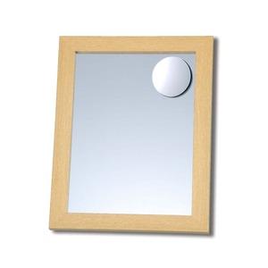拡大鏡付木製スタンド付きミラー 【サイズ 約247×298×28〜250mm】 日本製 ナチュラル - 拡大画像
