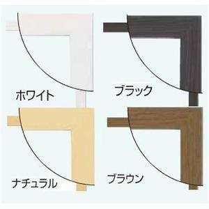 日本製パネルフレーム/ポスター額縁 【A3/内寸:420x297ブラック】 壁掛けひも・低反射フィルム付き「5901くっきりパネルA3」
