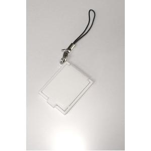 【化粧直しに最適!】携帯コンパクトミラー(ストラップ付) ホワイト【5個セット】/日本製